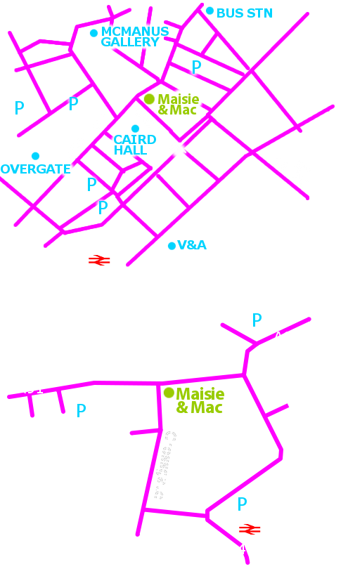 Cupar and Dundee maps